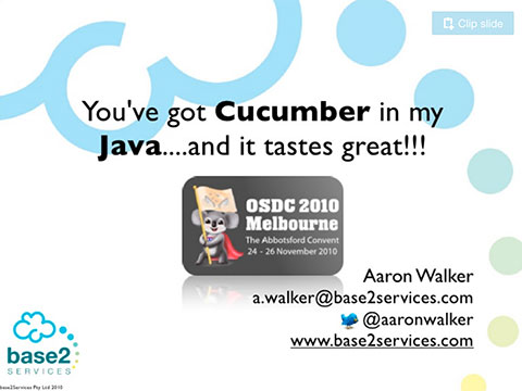 Cucumber in Java